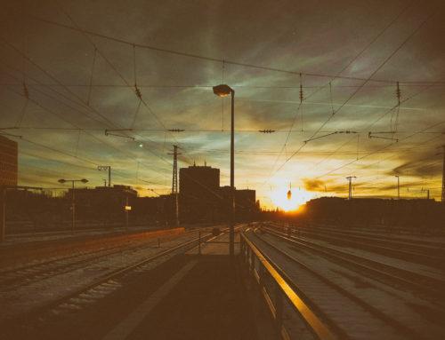 Ostbahnhof München Sonnenuntergang